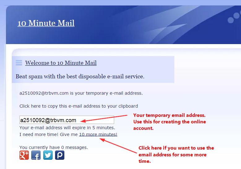 Come creare una mail temporanea