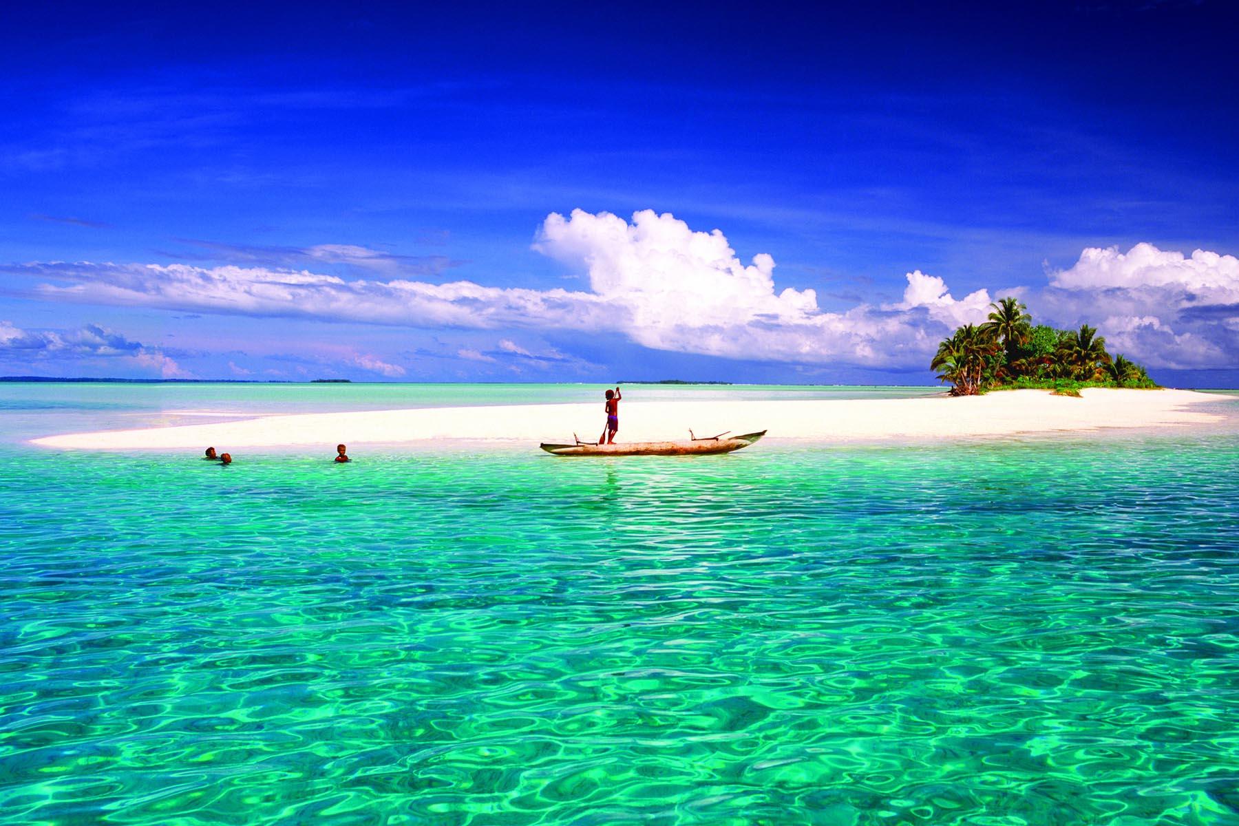 Bellissimo panorama della Papua Nuova Guinea
