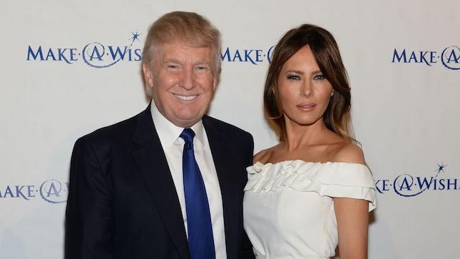 Donald Trump e la terza moglie Melania Knauss