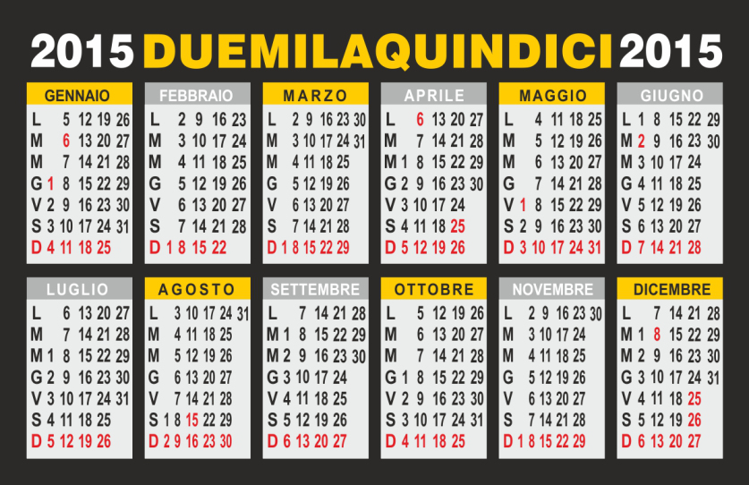 Calendario feste 2015