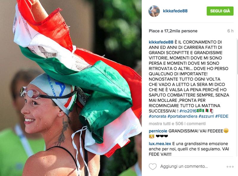 Chi sono i portabandiera Italia Olimpiadi Rio 2016