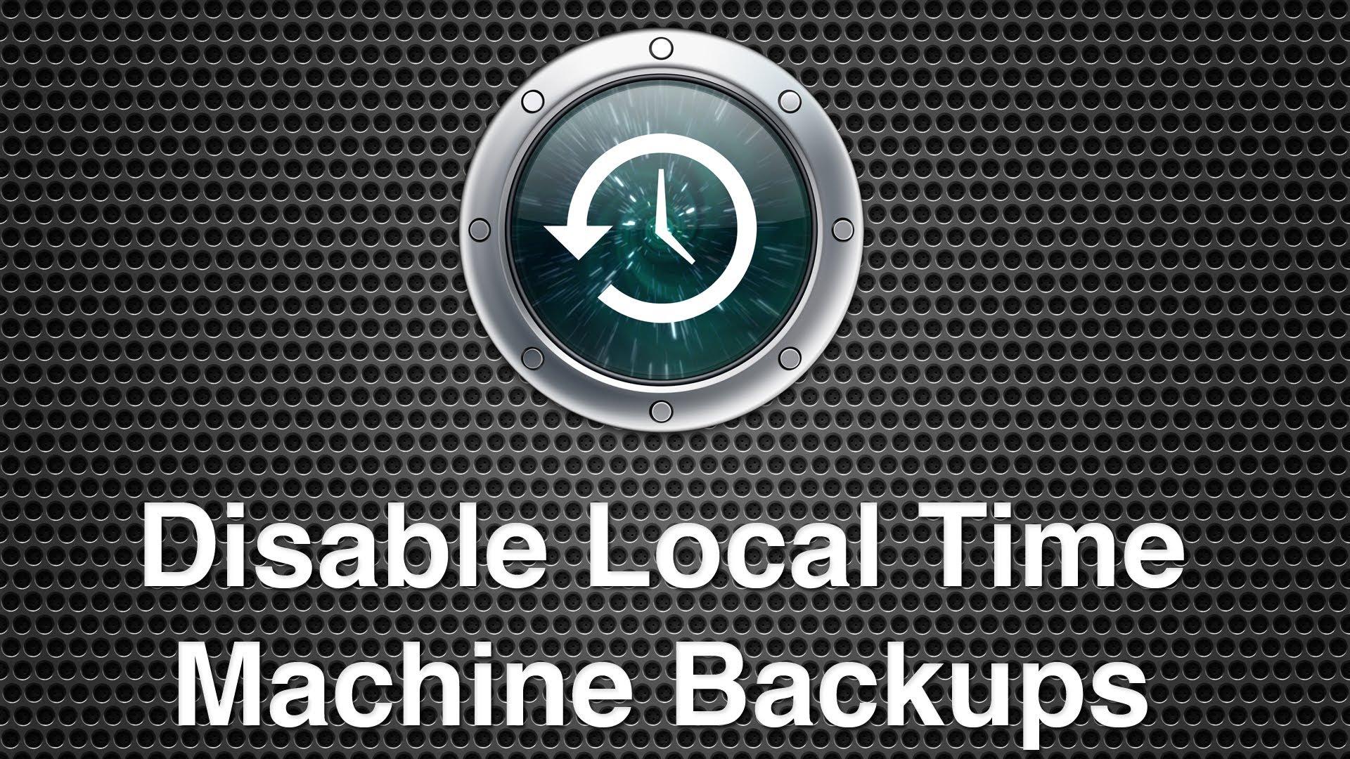 Come disabilitare Backup Locale Time Machine