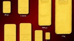 Quanto pesa un lingotto d'oro