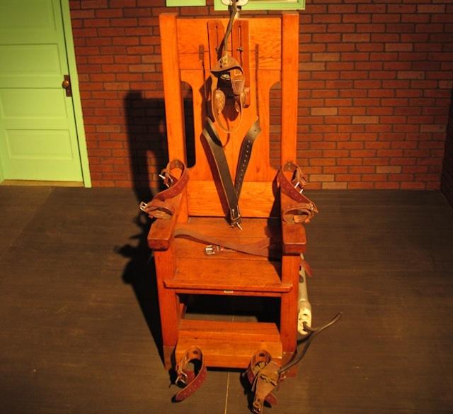 Una sedia elettrica usata per le esecuzioni capitali nell'America del Sud