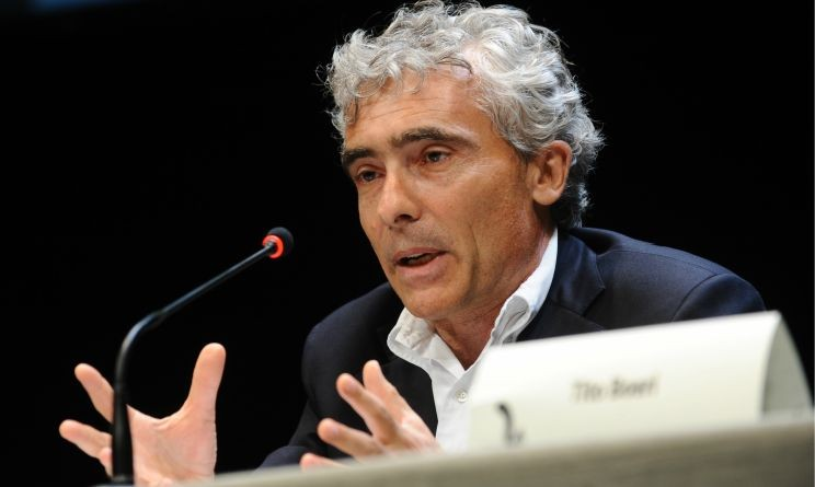 Il Presidente INPS Tito Boeri durane una conferenza
