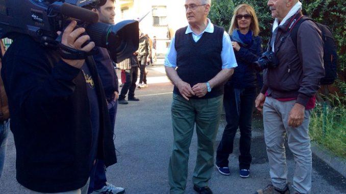 """Padre Francesco Marcoladi """"Don Ventimiglia"""" parla alle telecamere"""