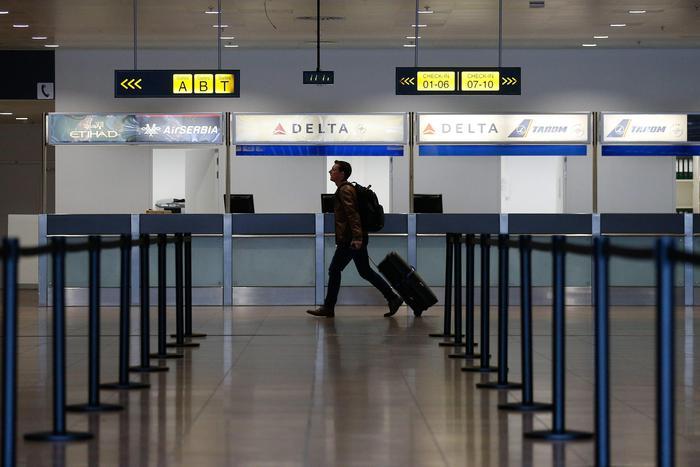 La sala partenze dall'Aeroporto Zavantem di Bruxelles