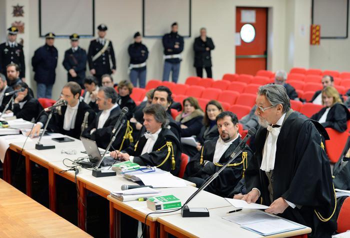 L'intervento dell'avvocato difensore Cesare Zaccone durante l'udienza del processo all'Olivetti