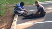 ragazzo autistico e poliziotto