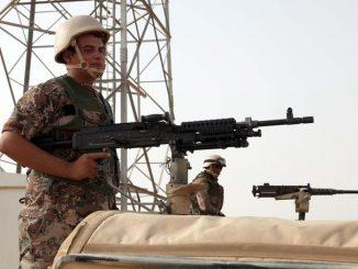 Alcuni soldati delle forze militari giordane