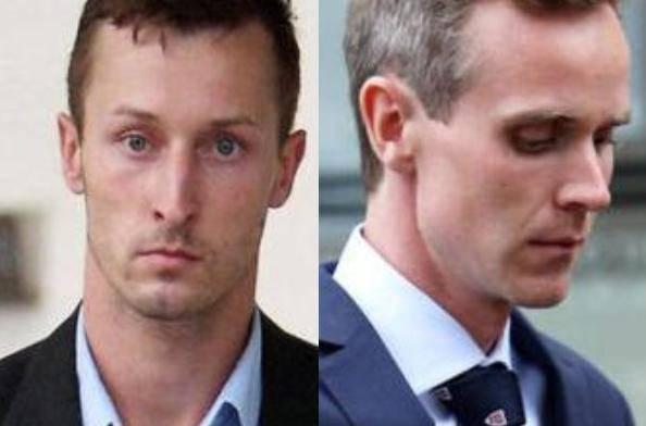 Jesse Burgoine e Artjom Nepryahin , i due universitri inglesi accusati di stupro