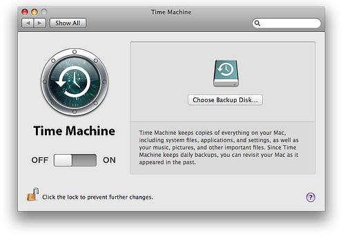ripristino da Time Machine