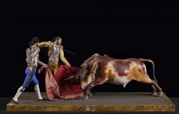 7---Gruppo-di-statuette-con-toreri-spagnoli,-XIX-sec
