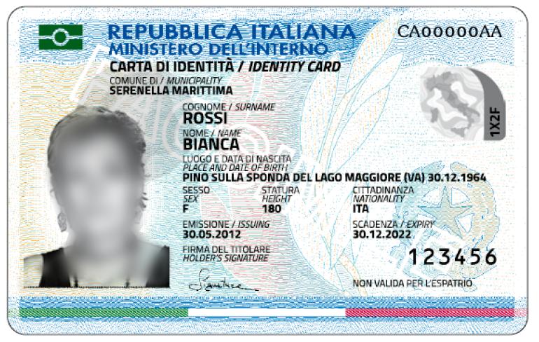 Numero carta identit elettronica dove si trova for Modulo per permesso di soggiorno