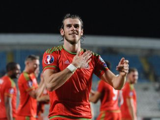 Wales Gareth Bale celebrates his side's win after the UEFA European Championship Qualifying match at the GSP Stadium, Cyprus. Picture date: Thursday September 3, 2015. See PA story SOCCER Cyprus. Photo credit should read: Andrew Matthews/PA Wire