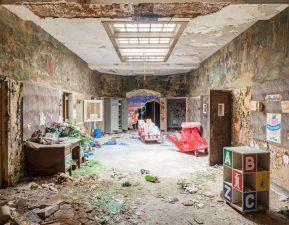 I resti della nursery, uno degli ultimi luoghi ad essere abbandonati.
