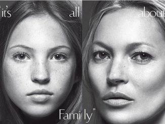 Kate Moss e Lila Grace sulla copertina di Vogue Italia.
