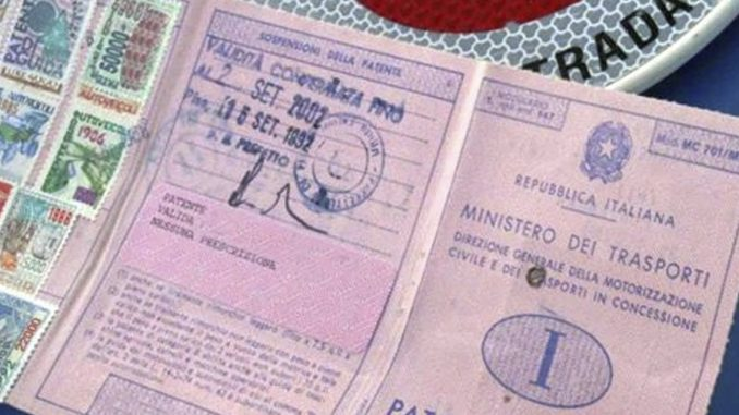 numero patente vecchia