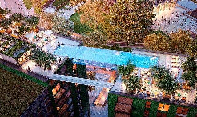 piscina sospesa londra