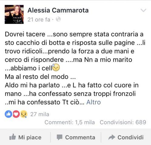 Aldo tradisce Alessia