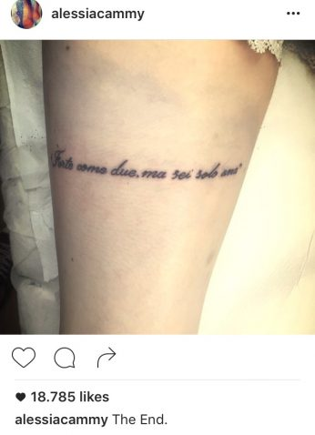 Aldo tradisce Alessia Instagram
