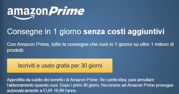 Amazon prime prova gratuita