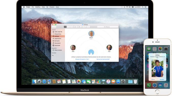 Come trasferire foto da iphone a mac wireless