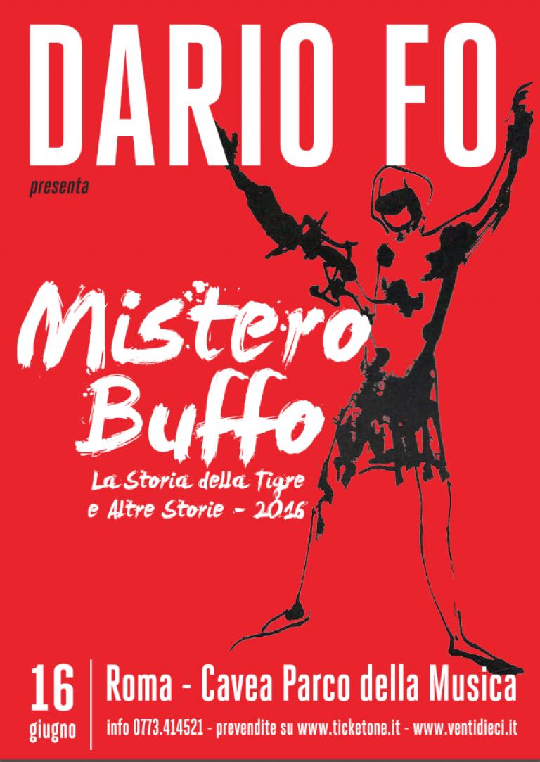 Prezzi biglietti Mistero buffo di Dario Fo Auditorium Parco della Musica 1 agosto 2016