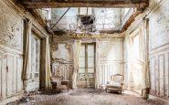 Una stanza di un castello in Belgio.