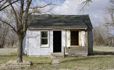 Treece è composta principalmente da piccole case isolate.