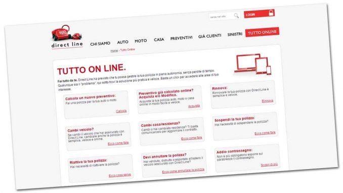 Direct line richiesta danni