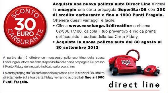 direct line rimborso polizza