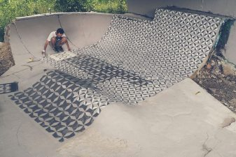 Uno skate park diventa elegante da abbandonato che era.
