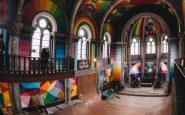 La chiesa di Santa Barbara in Spagna, diventata uno skate park