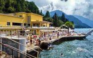 Il lido di Bellagio, sulle sponde del lago