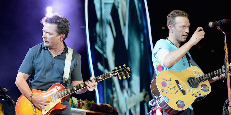 Michael J.Fox e Chris Martin