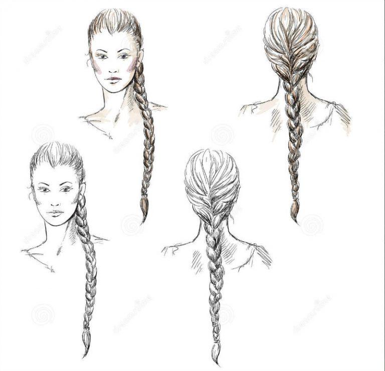 Come disegnare i capelli: le trecce