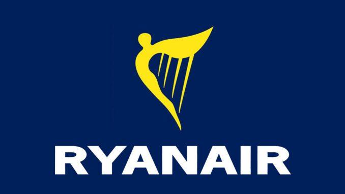 Il logo ufficiale della compagnia low cost irlandese Ryanair
