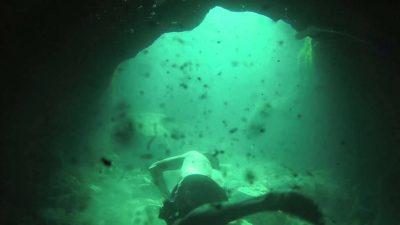 Questo è come appare appena sotto la superficie. Il resto è tutto al buio.