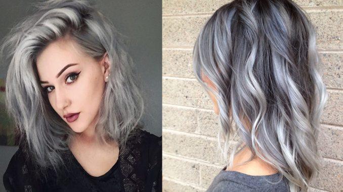 Shatush bianco e grigio sui capelli: a chi sta bene