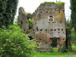 Un altro dei resti delle strutture medievali.