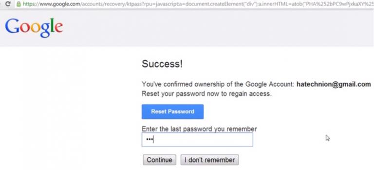 Come recuperare password account Google