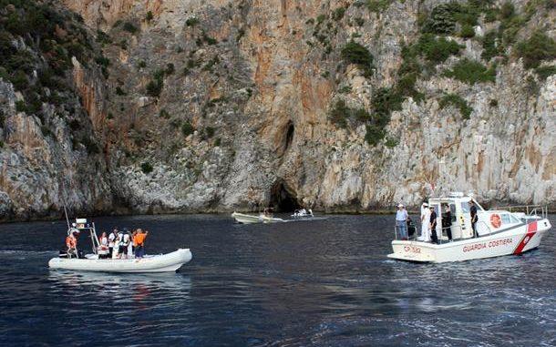 Palinuro, tre dispersi in mare in una cava