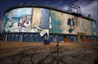 Lo stadio di pallavolo, dei giochi di Pechino 2008, completamente inutilizzato.