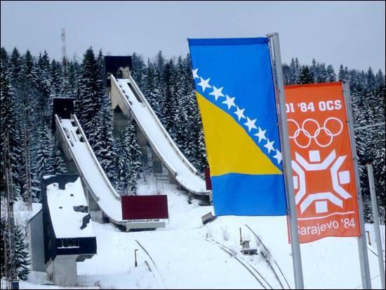 Sarajevo come appariva durante le Olimpiadi Invernali del 1984.