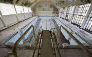 I resti della piscina olimpica del villaggio delle Olimpiadi di Berlino.