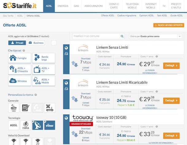 confronta prezzi internet adsl
