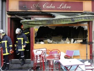 incendio nel bar