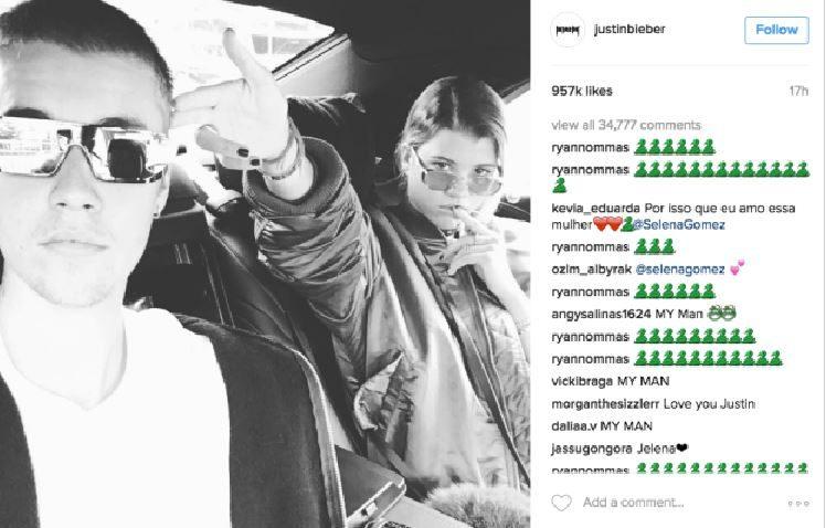 Justin Bieber: per Sofia Richie addio a Instagram