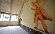 Murales rappresentante Lenin all'interno del villaggio olimpico di Berlino, fatto dalle truppe russe.